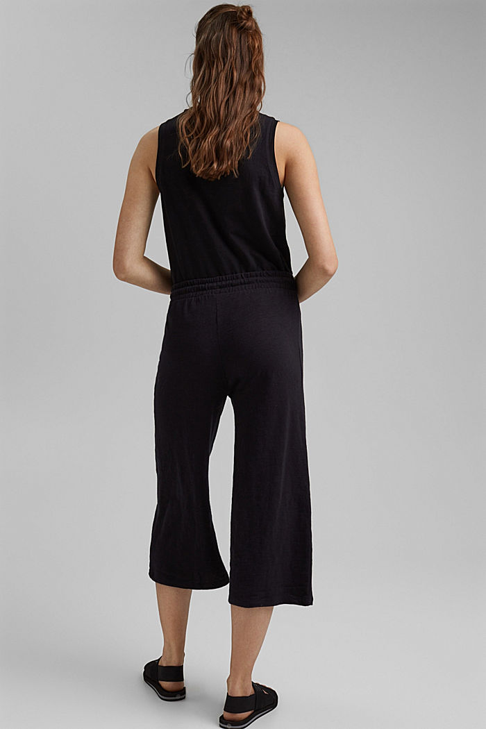 Sweatshirt culottes made of 100% organic cotton, BLACK, detail image number 3