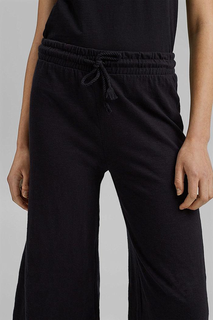 Sweatshirt culottes made of 100% organic cotton, BLACK, detail image number 2