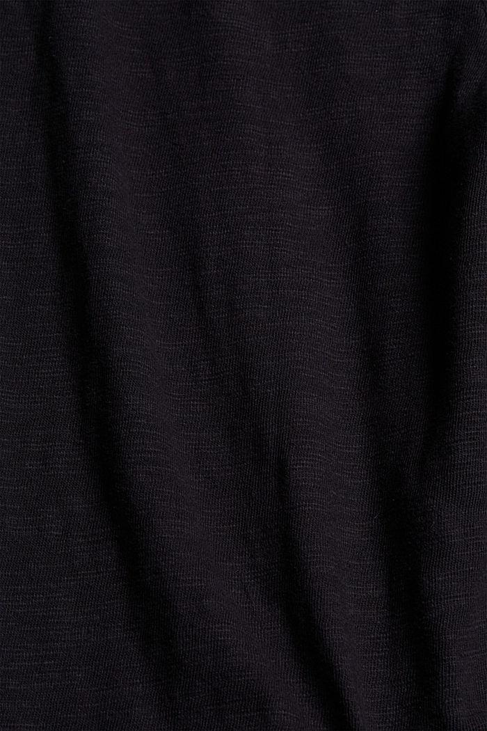 Sweatshirt culottes made of 100% organic cotton, BLACK, detail image number 4