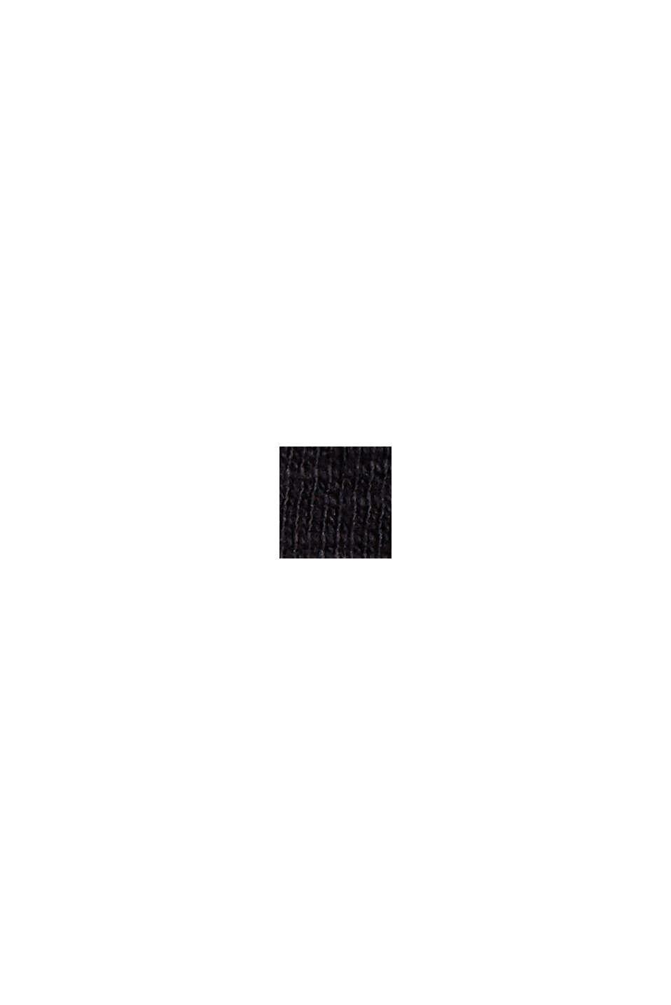 Culottebukser i sweat, 100% økologisk bomuld, BLACK, swatch