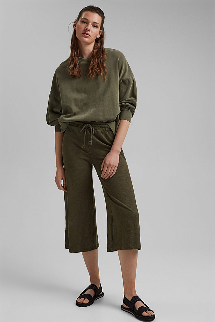 Sweatshirt culottes made of 100% organic cotton