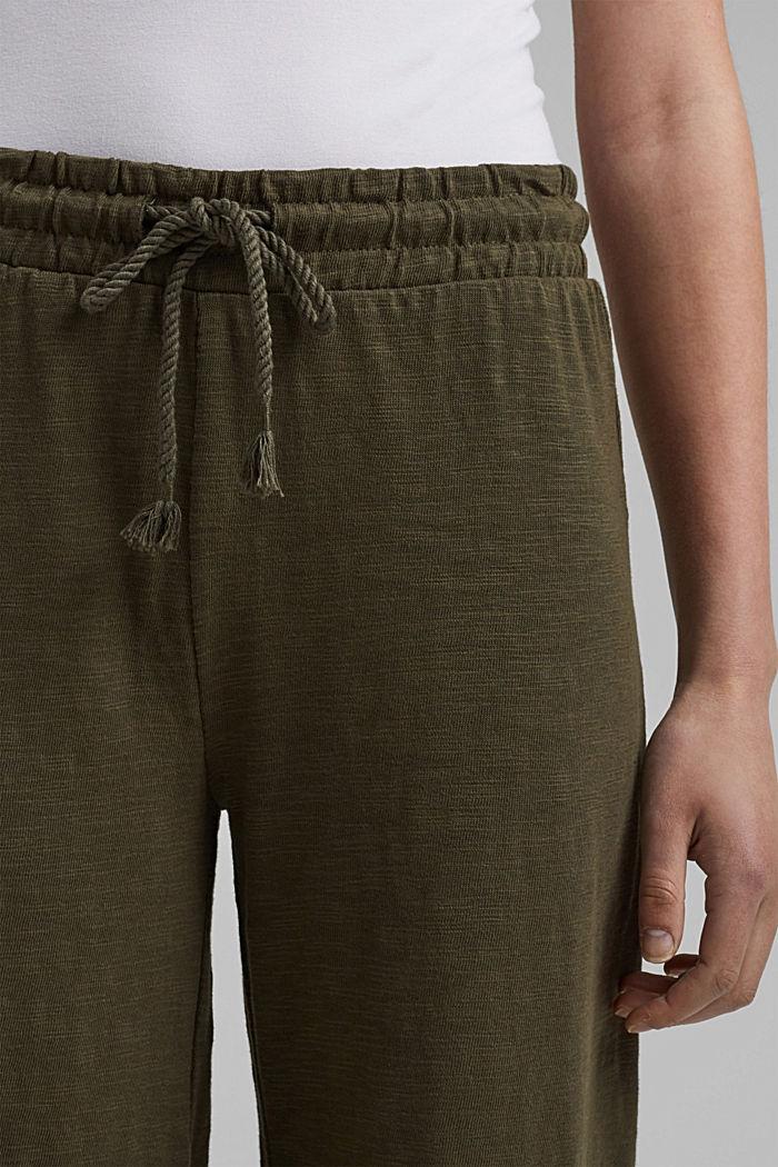 Sweatshirt culottes made of 100% organic cotton, KHAKI GREEN, detail image number 2