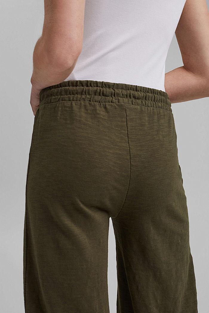 Sweatshirt culottes made of 100% organic cotton, KHAKI GREEN, detail image number 5