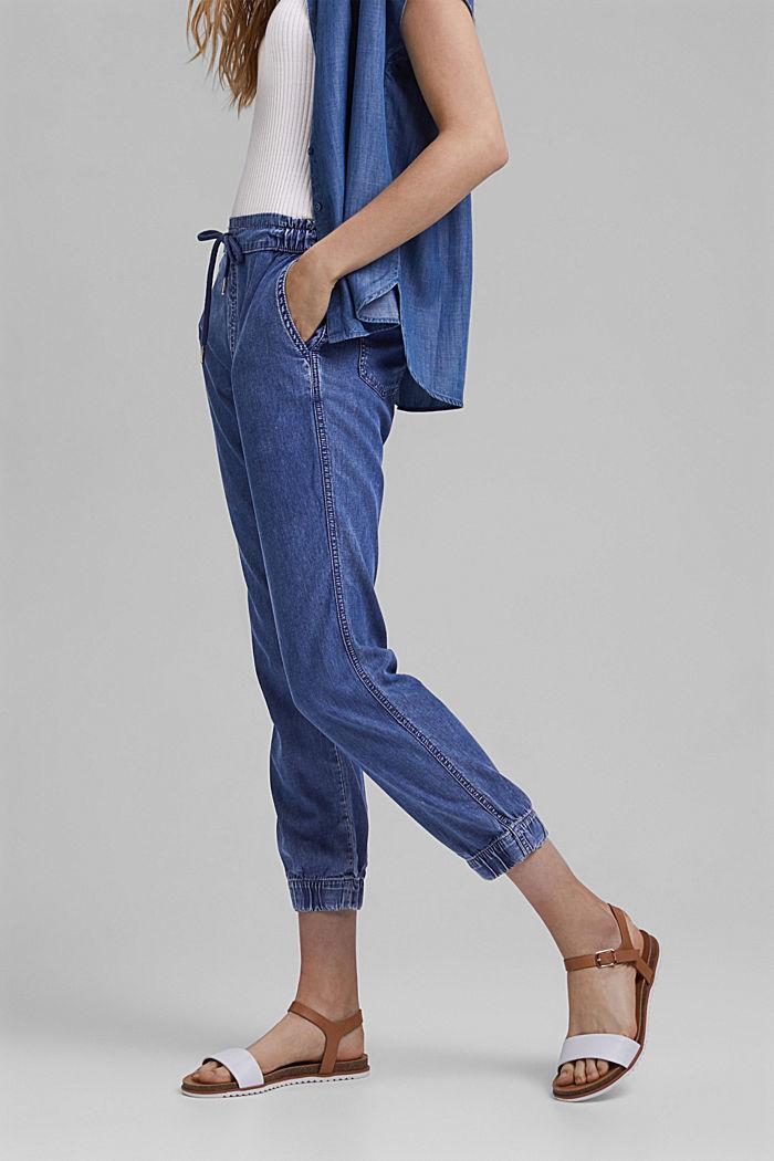 I TENCEL™/økologisk bomuld: bukser i joggingbuksestil