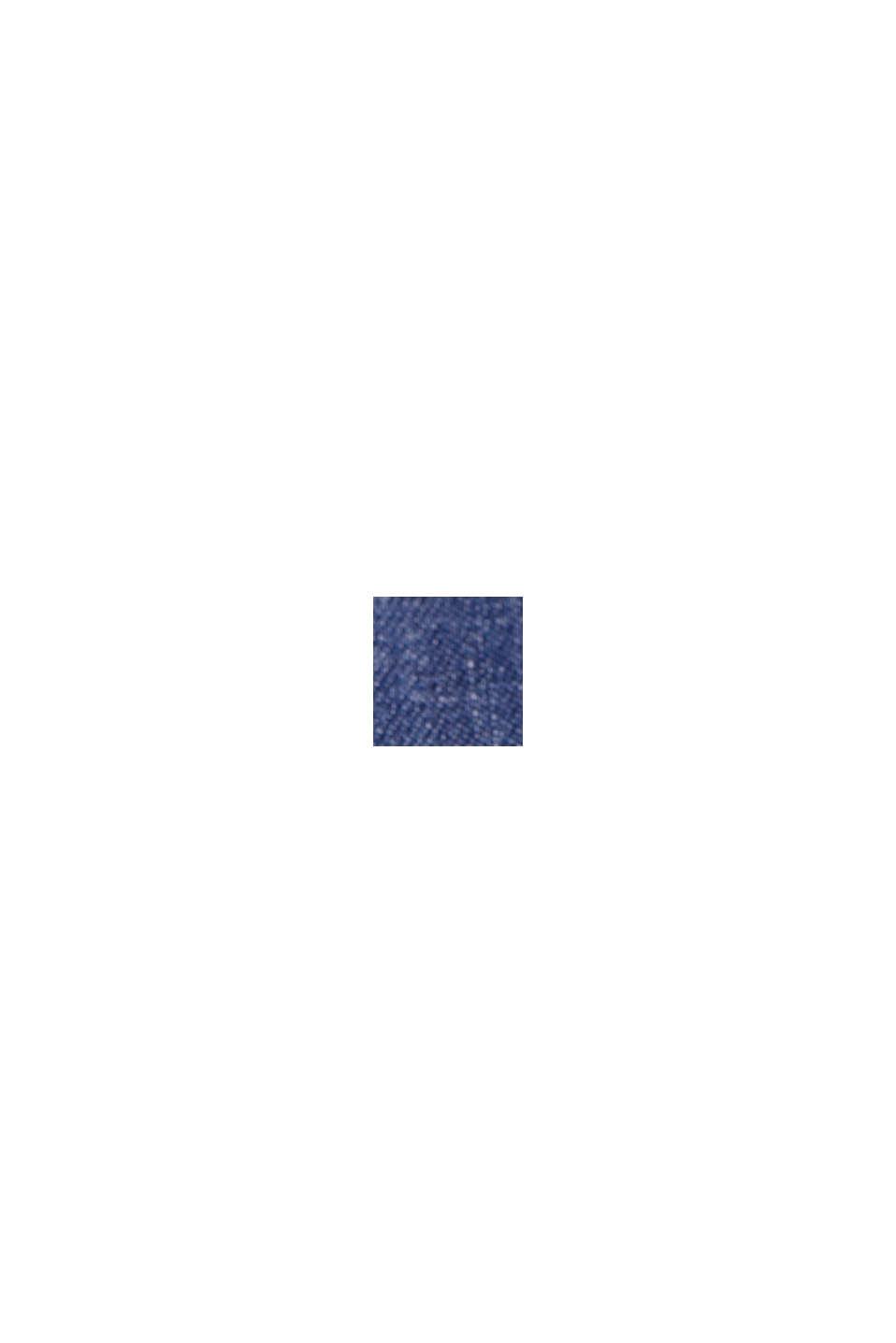 En TENCEL™/algodón ecológico: pantalón de estilo deportivo, BLUE MEDIUM WASHED, swatch