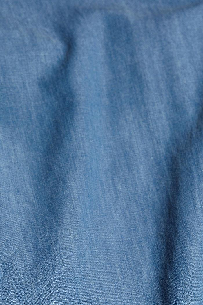 Aus TENCEL™/Bio-Baumwolle: Hose im Jogger-Stil, BLUE LIGHT WASHED, detail image number 4
