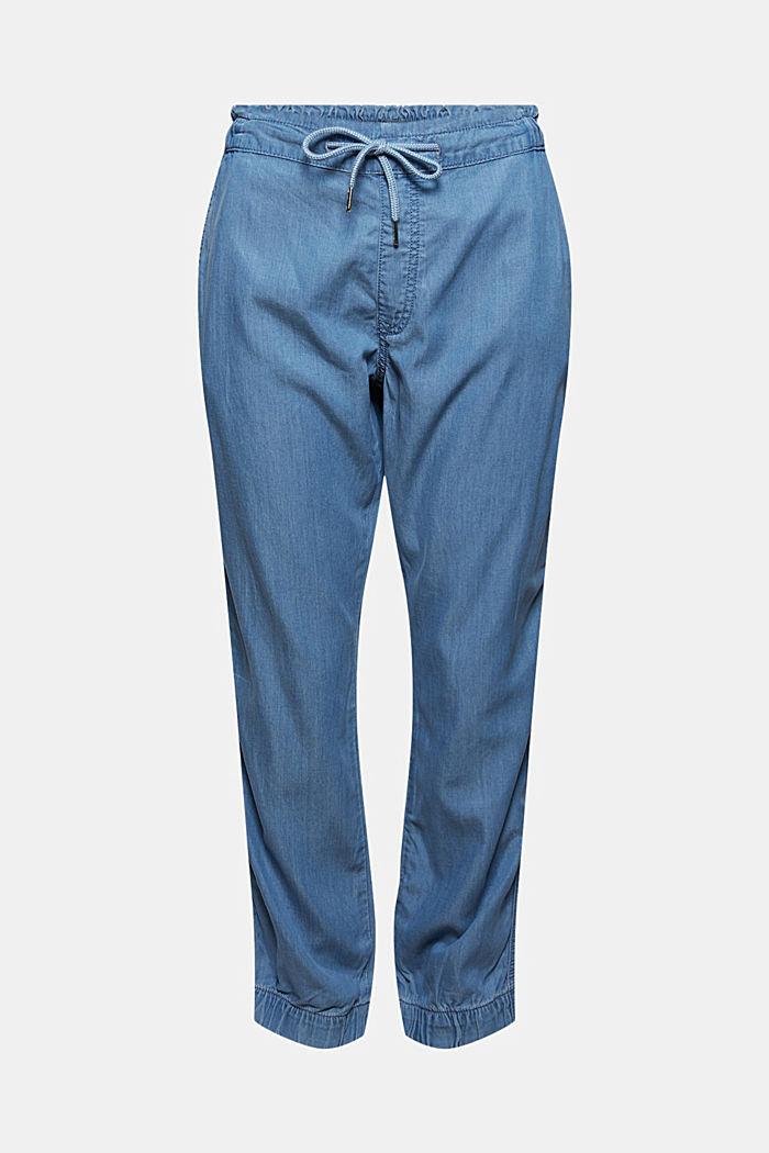 Z materiálu TENCEL™/bio bavlna: kalhoty v joggingovém stylu