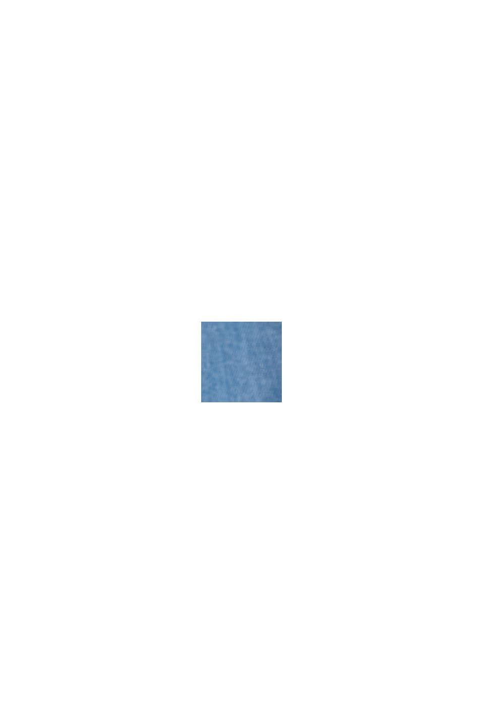 En TENCEL™/algodón ecológico: pantalón de estilo deportivo, BLUE LIGHT WASHED, swatch