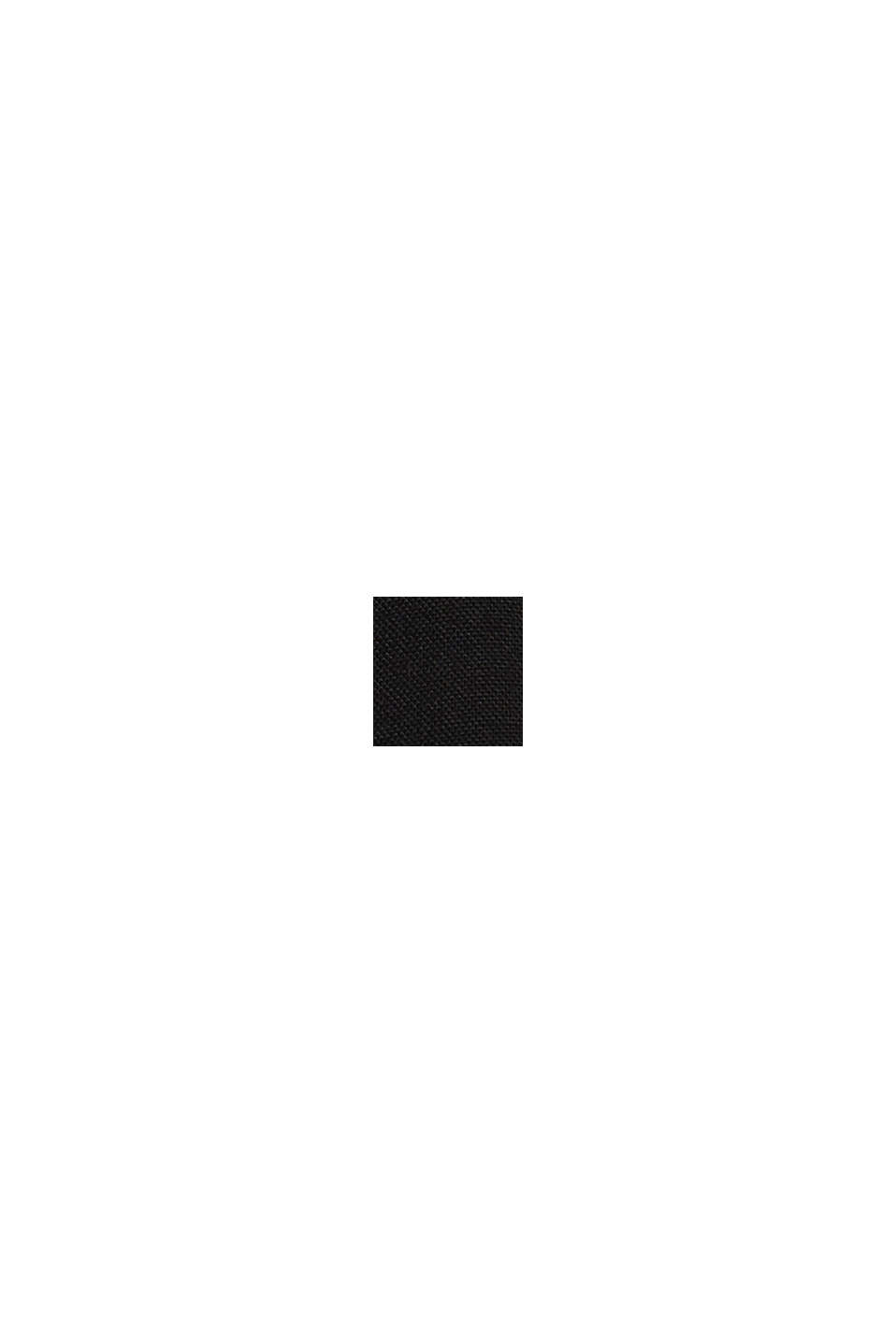 Böljande culottebyxa med knytskärp, BLACK, swatch