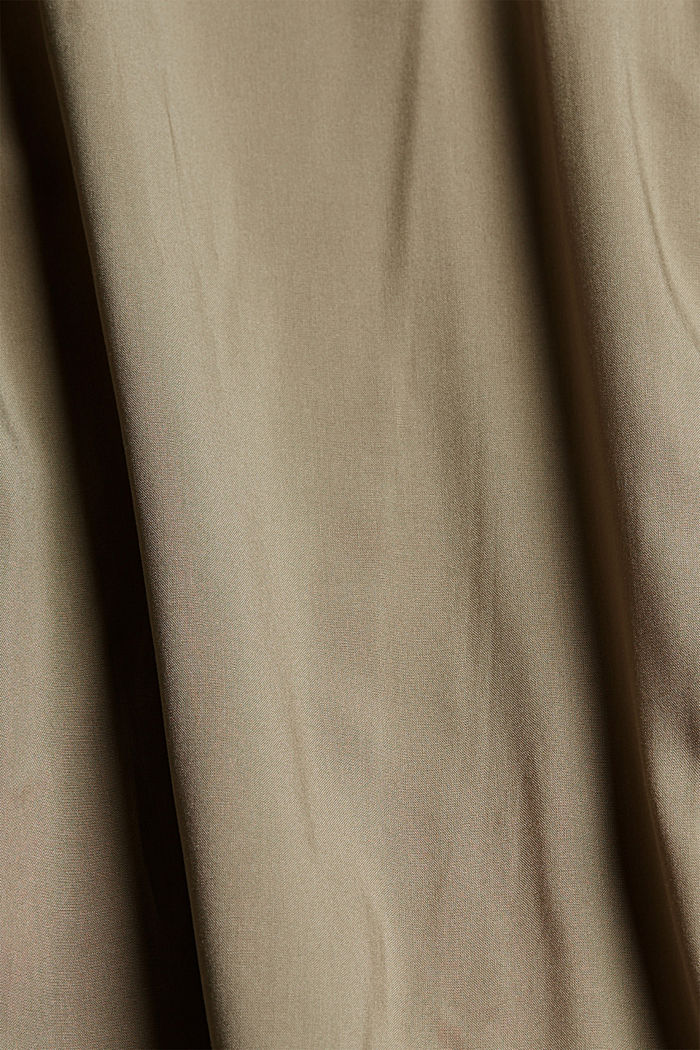 Flowing culottes with a tie-around belt, LIGHT KHAKI, detail image number 4