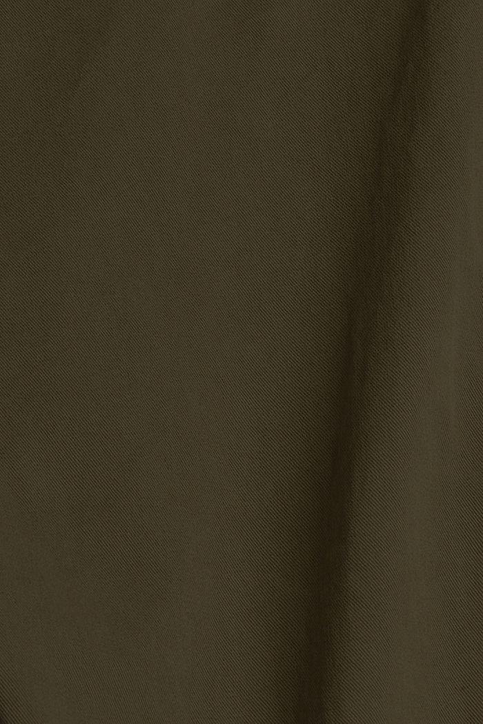 Met TENCEL™: paperbag-broek, DARK KHAKI, detail image number 4