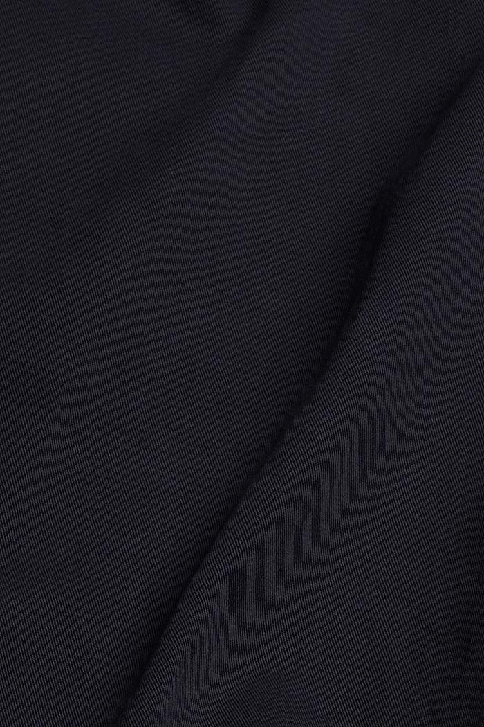 Met TENCEL™: paperbag-broek, NAVY, detail image number 4