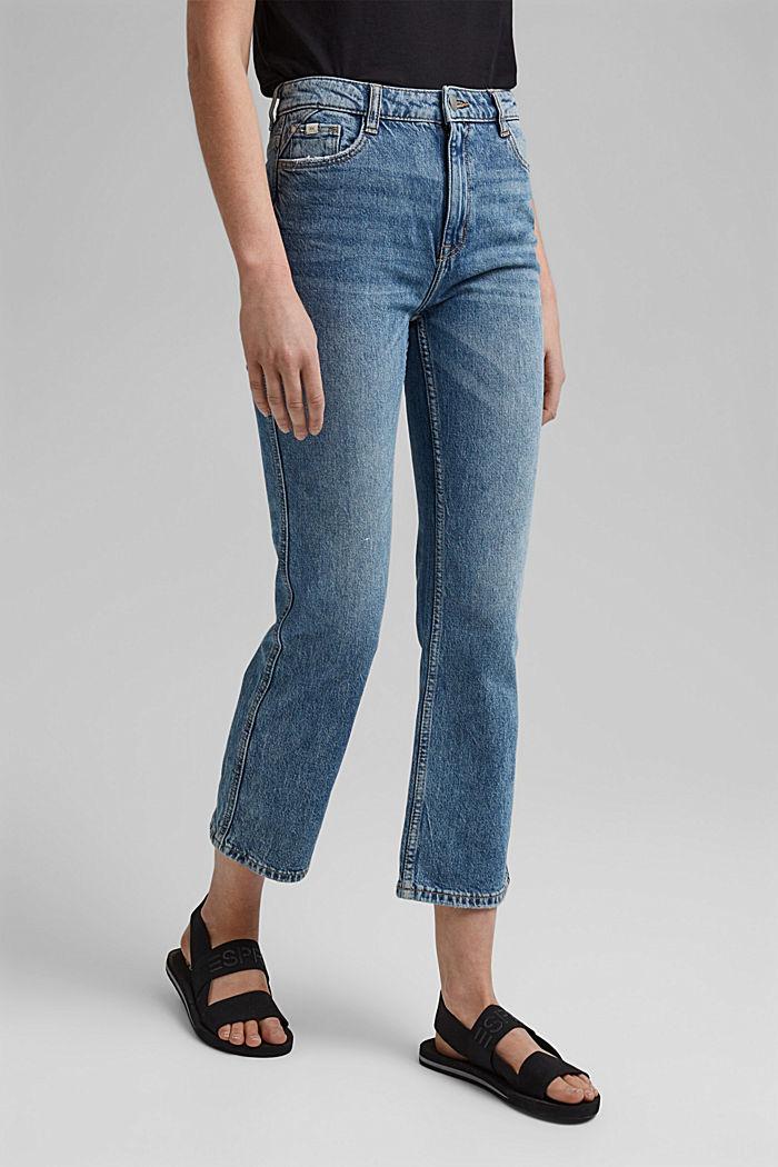 Cropped Jeans aus Organic Cotton, BLUE MEDIUM WASHED, detail image number 0
