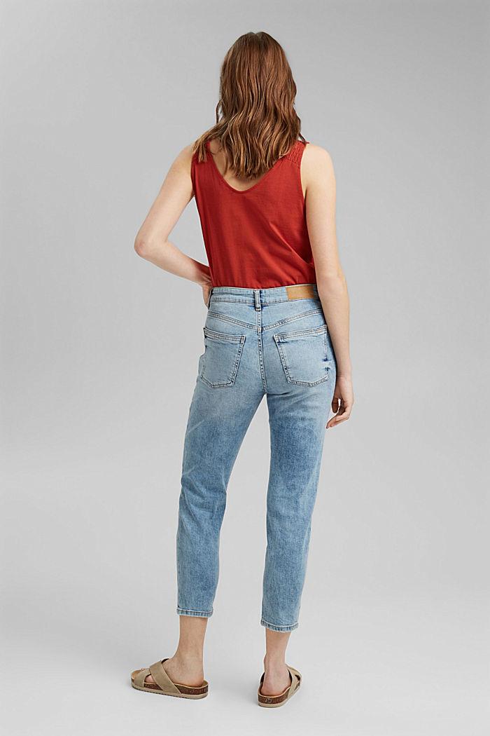 Destroyed 7/8-Jeans aus Bio-Baumwolle, BLUE LIGHT WASHED, detail image number 3