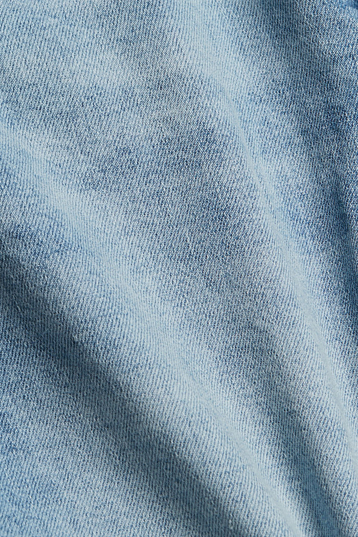 Destroyed 7/8-Jeans aus Bio-Baumwolle, BLUE LIGHT WASHED, detail image number 4