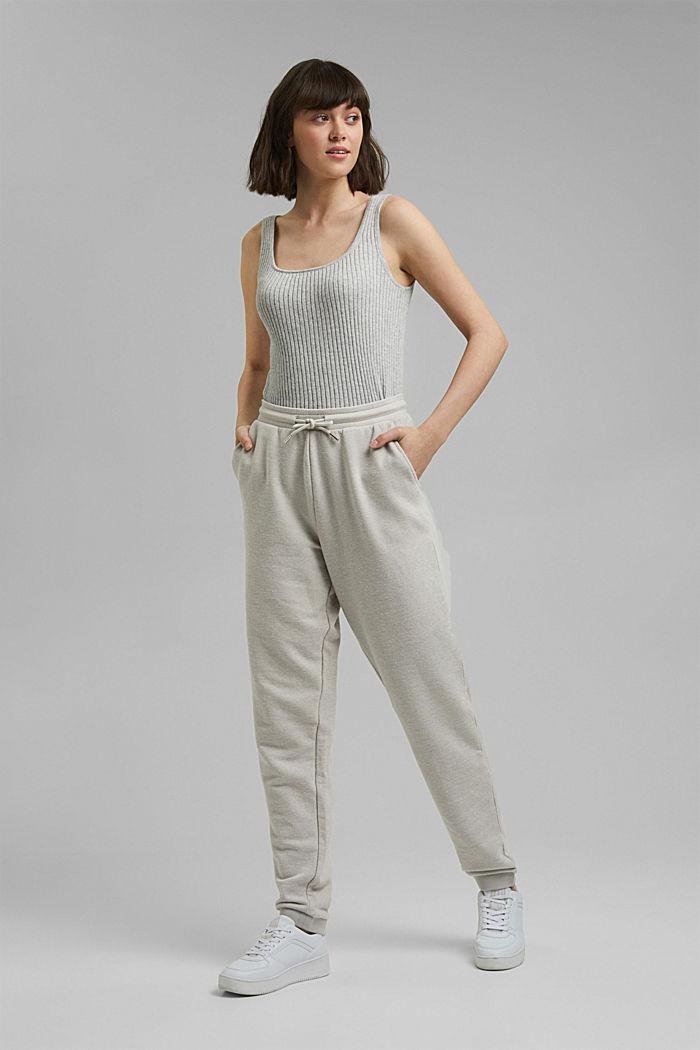 Pantalon de jogging à teneur en coton biologique, LIGHT GREY, detail image number 1