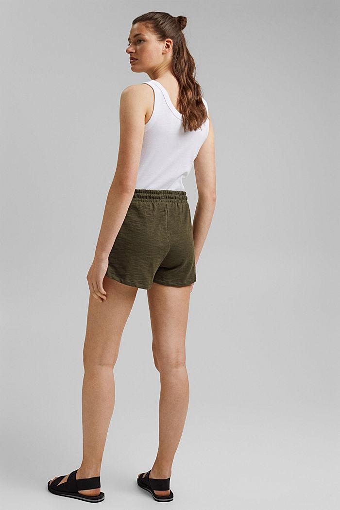 Jersey shorts made of 100% organic cotton, KHAKI GREEN, detail image number 3