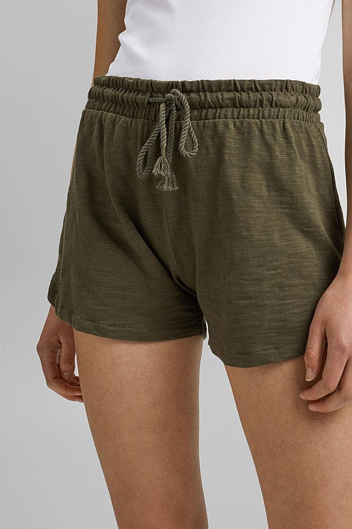 Jersey shorts made of 100% organic cotton, KHAKI GREEN, detail image number 2