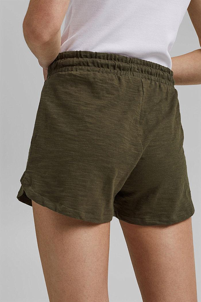 Jersey shorts made of 100% organic cotton, KHAKI GREEN, detail image number 5