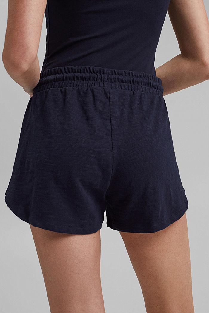 Žerzejové šortky ze 100% bio bavlny, NAVY, detail image number 5