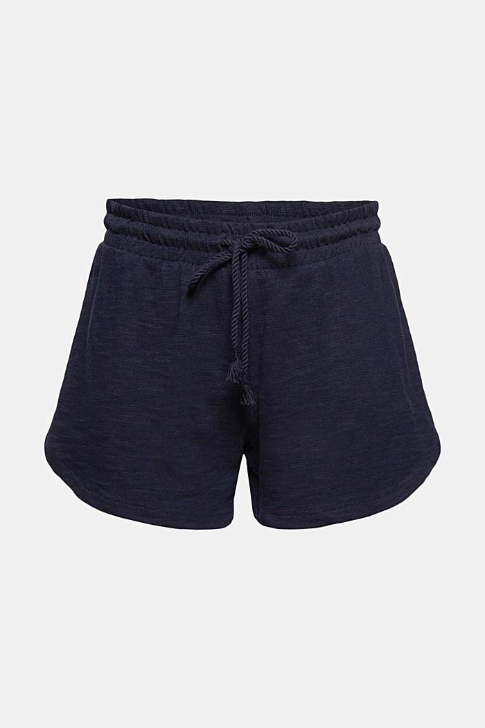 Žerzejové šortky ze 100% bio bavlny, NAVY, detail image number 7