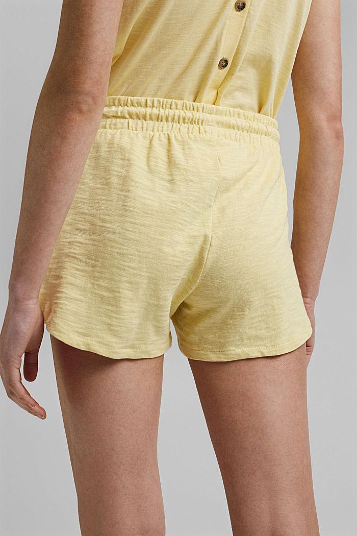 Jersey short van 100% biologisch katoen, LIGHT YELLOW, detail image number 5