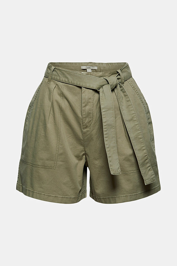 High rise-shorts med bælte