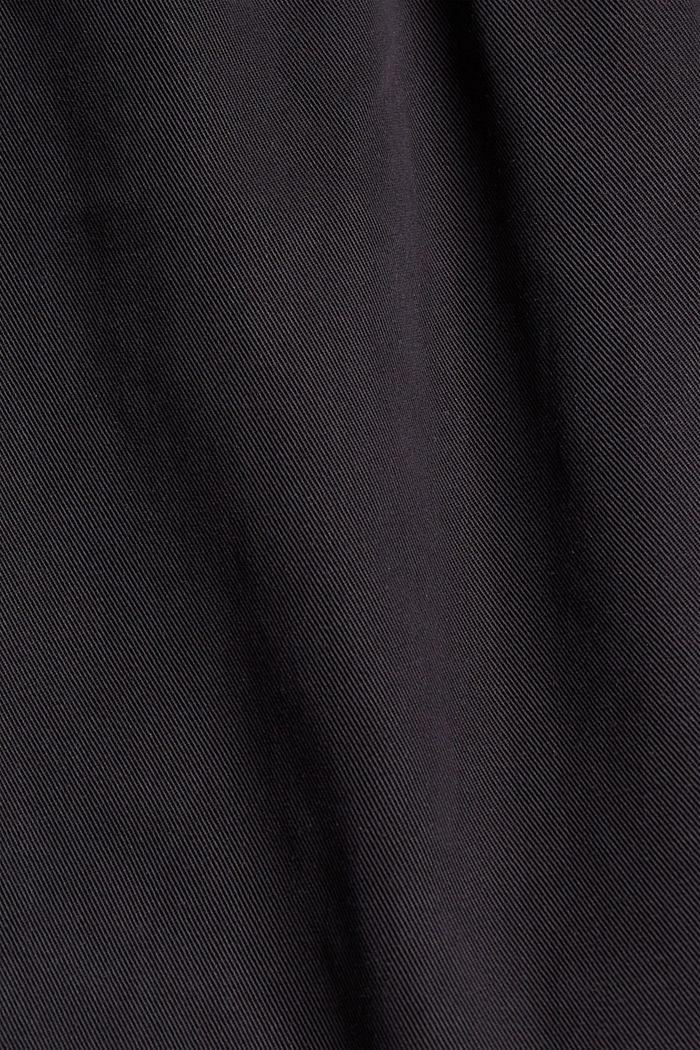 TENCELIÄ™: shortsit, joissa kiristysnauhavyötärö, BLACK, detail image number 4
