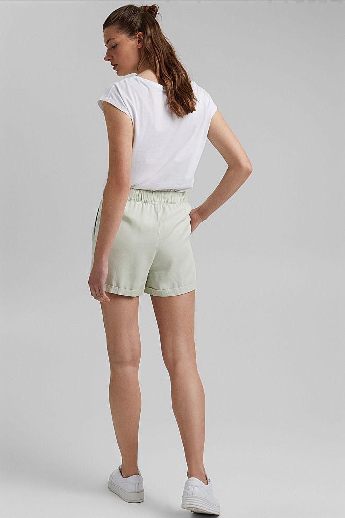 Aus TENCEL™: Shorts mit Kordelzugbund, PASTEL GREEN, detail image number 3