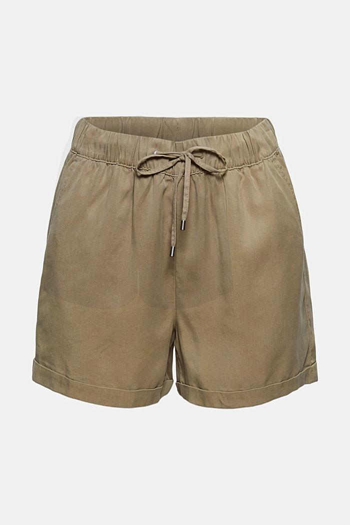 I TENCEL™: shorts med løbegang og indvendig snor