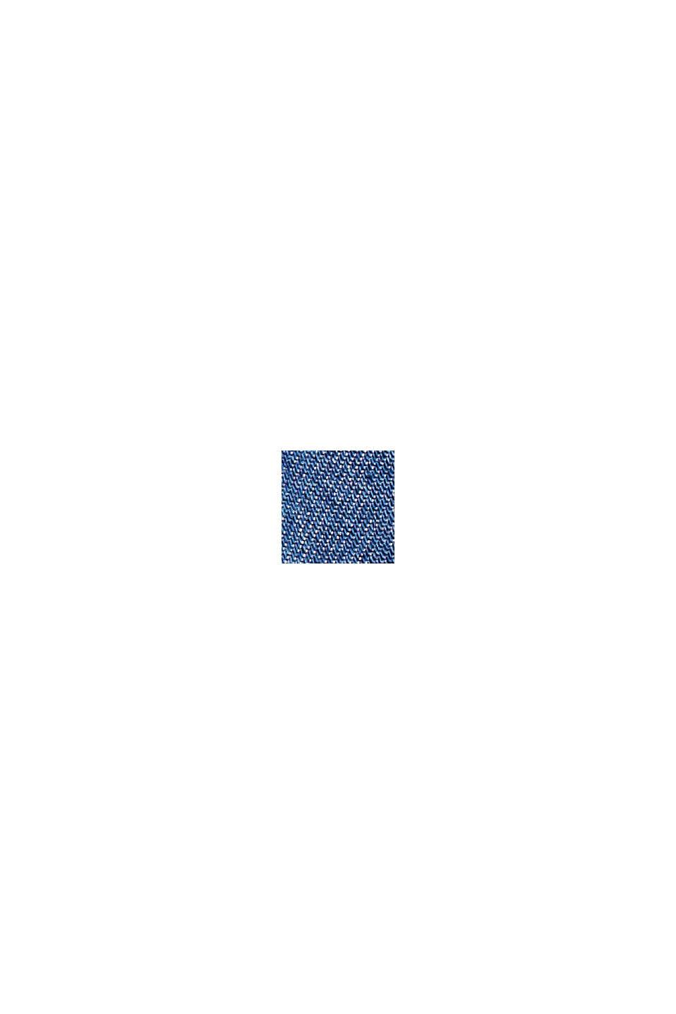 TENCELIÄ™: shortsit, joissa kiristysnauhavyötärö, BLUE MEDIUM WASHED, swatch