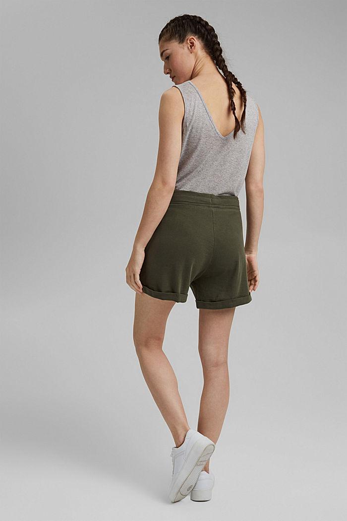 Jerseyshorts aus 100% Bio-Baumwolle, KHAKI GREEN, detail image number 3