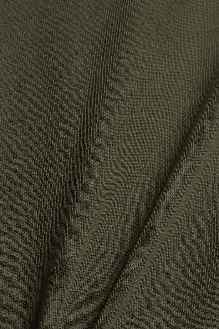 Jerseyshorts aus 100% Bio-Baumwolle, KHAKI GREEN, detail image number 4
