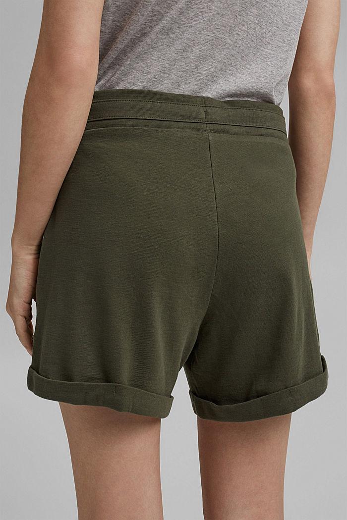 Jerseyshorts aus 100% Bio-Baumwolle, KHAKI GREEN, detail image number 5