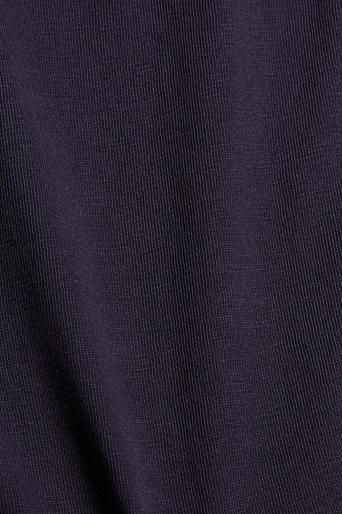 Jersey short van 100% biologisch katoen, NAVY, detail image number 4