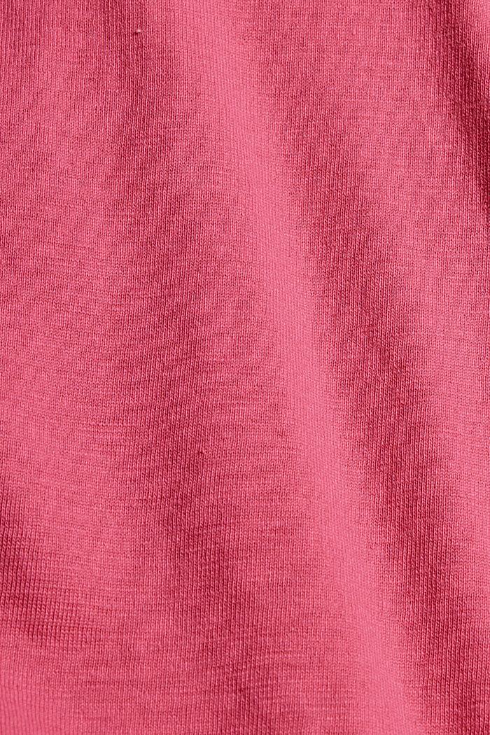 Jersey short van 100% biologisch katoen, PINK FUCHSIA, detail image number 4
