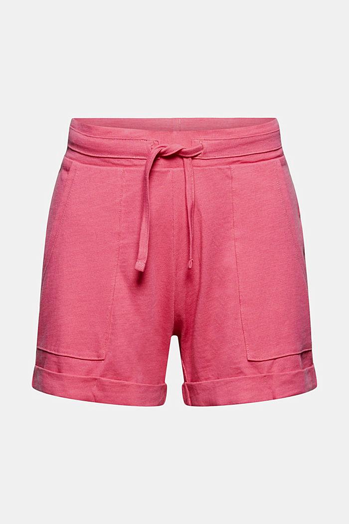 Jersey short van 100% biologisch katoen, PINK FUCHSIA, detail image number 6