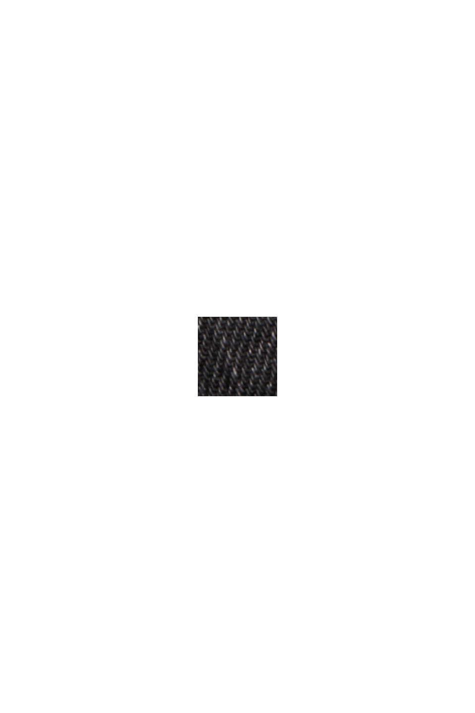Jeans-Rock mit Used-Details, 100% Bio-Baumwolle, BLACK DARK WASHED, swatch