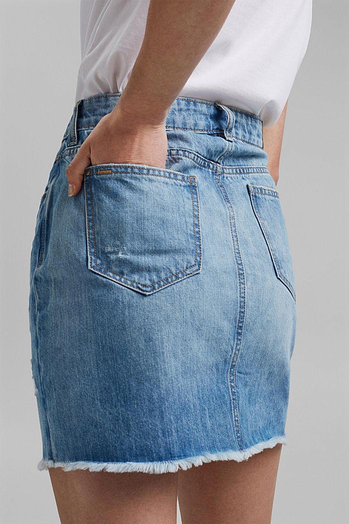 Denim skirt with vintage details, 100% organic cotton