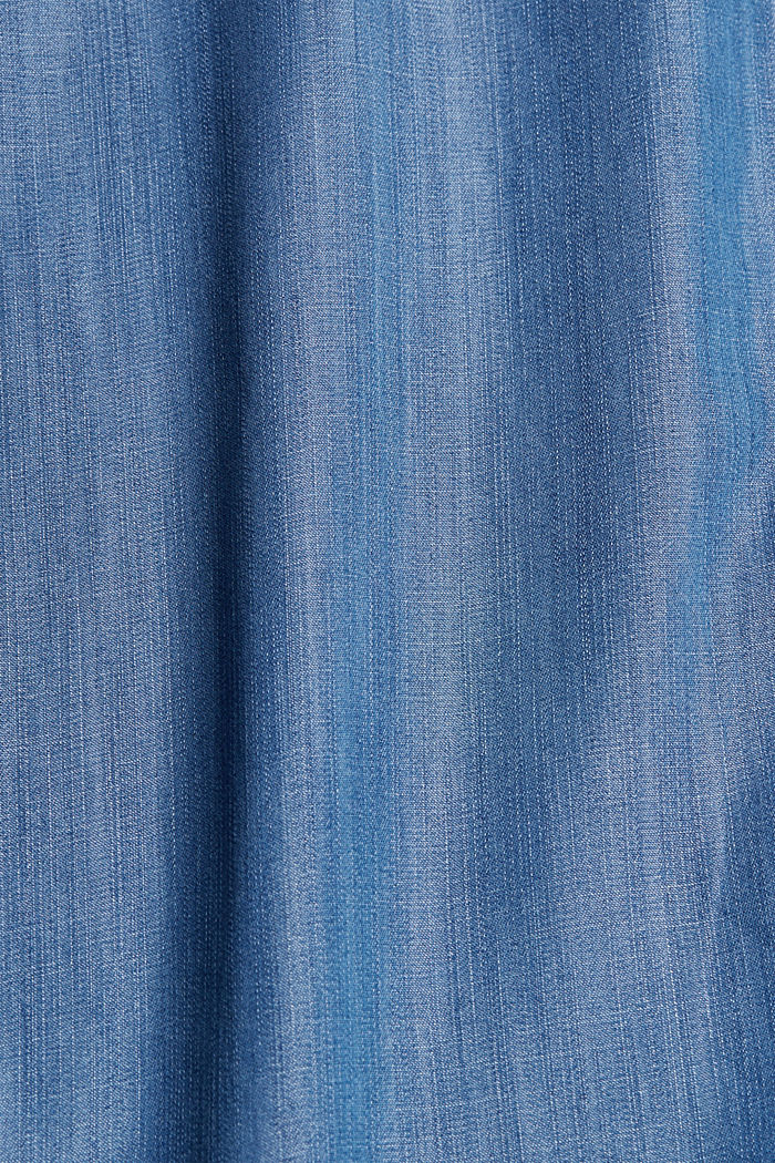 Made of TENCEL™: midi skirt in a denim look, BLUE MEDIUM WASHED, detail image number 4