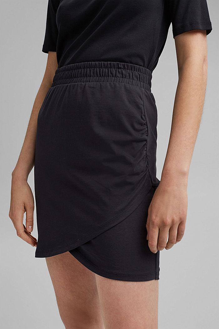 Jersey-Minirock, Organic Cotton, BLACK, detail image number 2