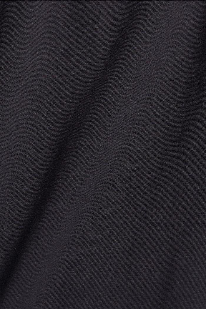 Jersey-Minirock, Organic Cotton, BLACK, detail image number 4