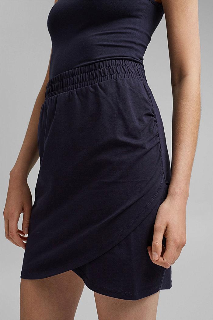 Jersey-Minirock, Organic Cotton, NAVY, detail image number 2