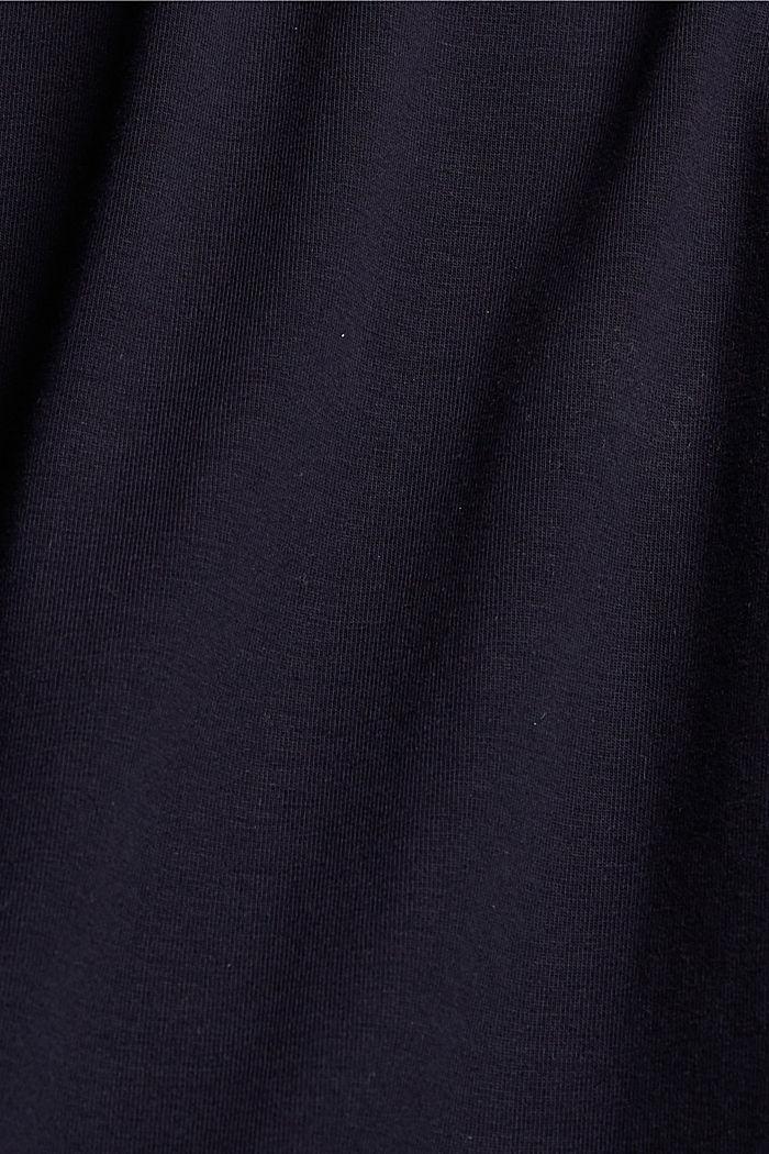Jersey-Minirock, Organic Cotton, NAVY, detail image number 4