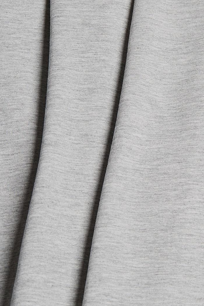 Kietaisumallinen minihame luomupuuvillaa, LIGHT GREY, detail image number 4