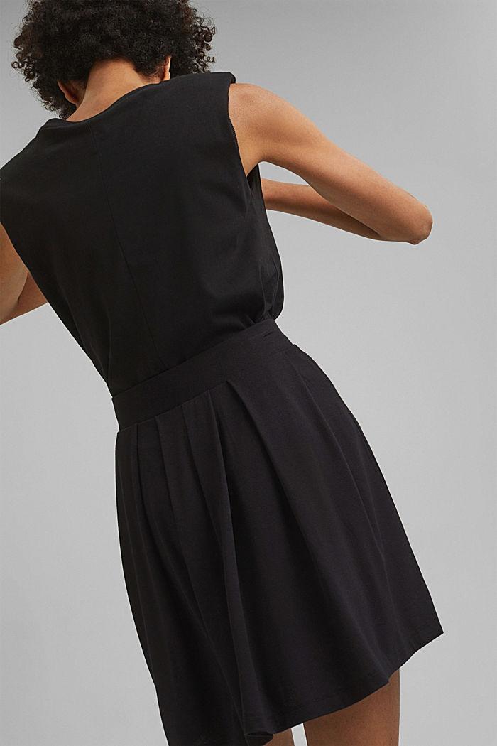 Jersey mini skirt, BLACK, detail image number 3