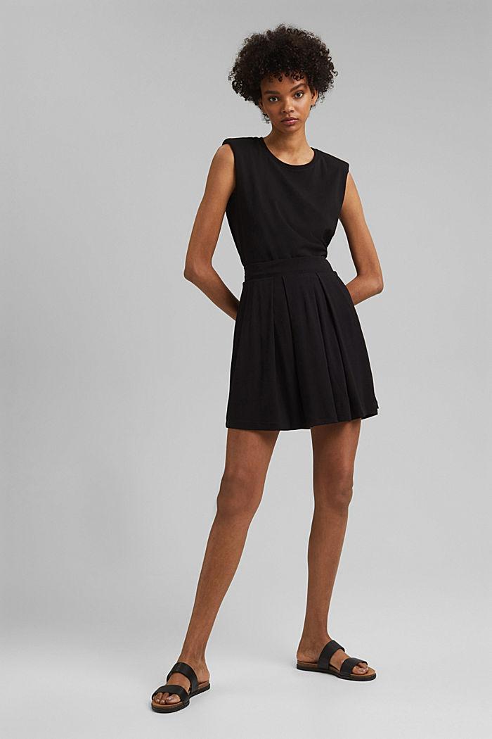 Jersey mini skirt, BLACK, detail image number 1