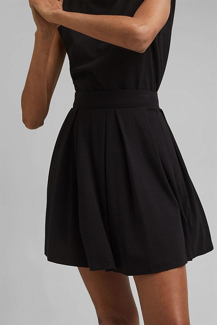 Jersey mini skirt, BLACK, detail image number 2
