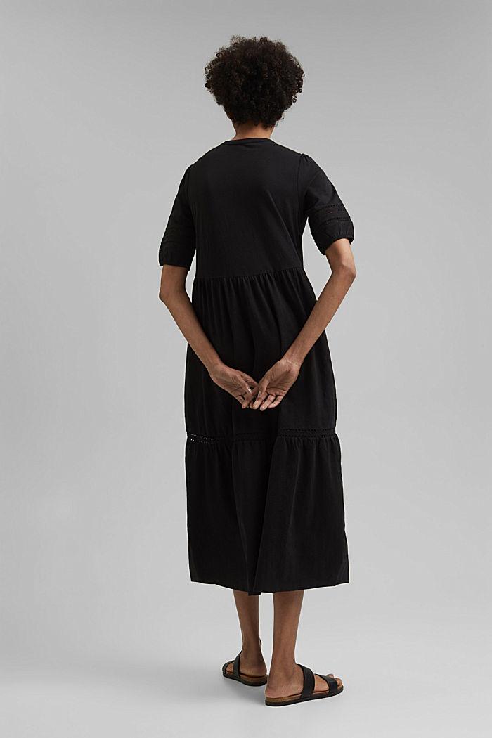 Jersey maxi dress, organic cotton, BLACK, detail image number 2
