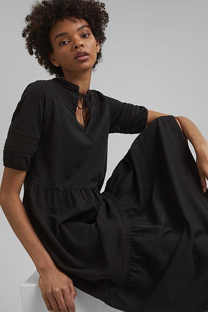 Jersey maxi dress, organic cotton, BLACK, detail image number 5